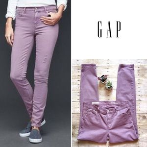 GAP Authentic True Skinny denim in amethyst